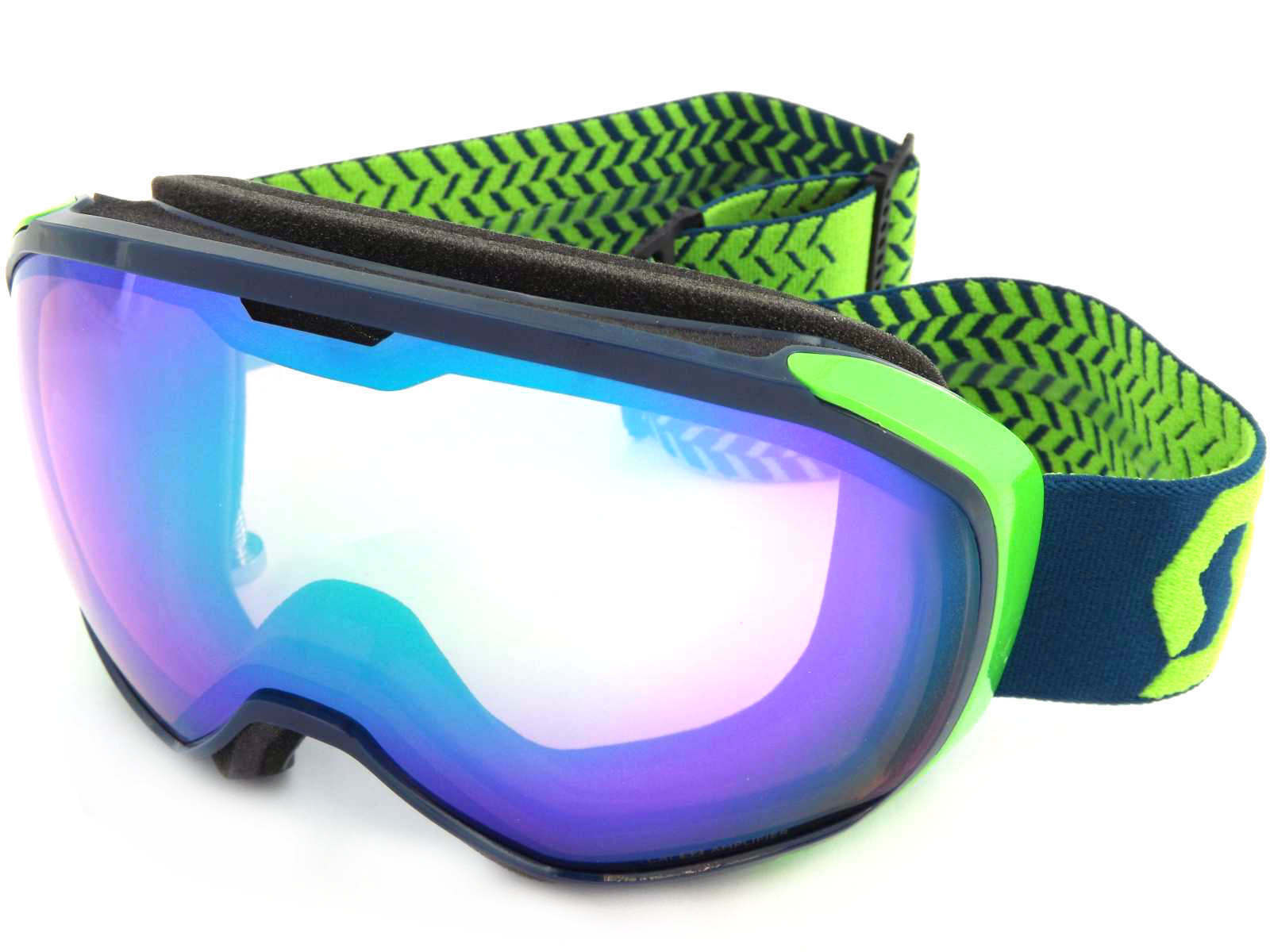 SCOTT - FIX bluee Green    Amplifier green Chrome Mirror Snow Ski Goggles 260568  100% genuine counter guarantee