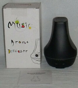 TurnRaise-Aromatherapy-Essential-Oil-Diffuser-NEW-In-Box-Sounds-Birds-Black