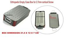 Orthopedic Empty Case Box For 27 Mm Cortical Screw Surgical Instruments