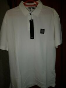 Stone-Island-Polo-Shirt-In-White-Regular-Large-BNWT-Pit-to-Pit-21inches