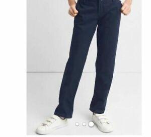 d25da59b69 Gap Kids Girls Uniform Straight Leg Chino Pants 7 Regular Dark Navy ...