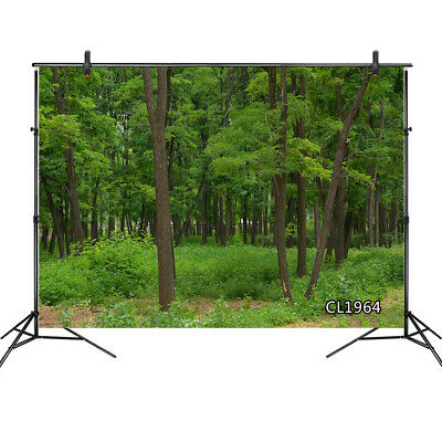 Spring Park Scenic Backdrop Beautiful Blooming Flowers Background 10x7ft Vinyl Photography Backdrops Old Trees Green Grass Forest Scenery Personal Portraits Shoot Wedding Photo Studio
