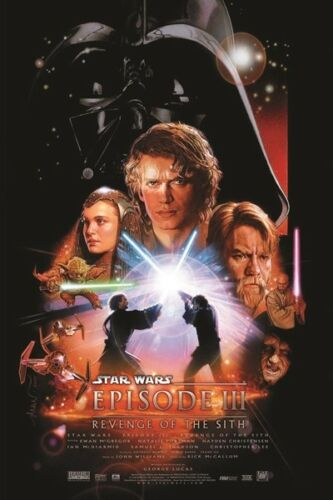 All Episodes A3//A4 Size Wall Art Picture Prints STAR WARS Movie Series Posters