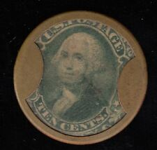 Weir & Larminie 10c Washington Stamp RARE, CH MT-7 Encased Stamp