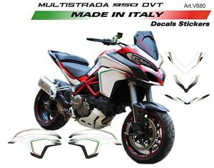 Details About Stickers Kit For Ducati Multistrada 950 201517 Design Tricolor