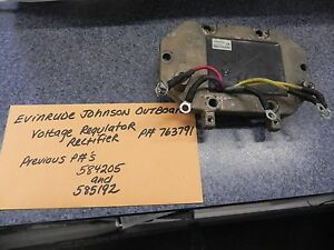 Evinrude Johnson Outboard Rectifier Regulator P# 763791 584205
