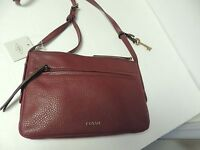 Fossil Jenna Small Crossbody In Wine