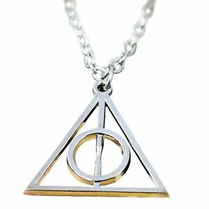 Silver-Incircle-Necklace-Circle-Triangle-Pendant-Harry-Potter-Hallows-Charm