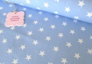 White Stars on Baby Blue 100 Cotton Star Fabric FAT QUARTER HALF METRE METRE - Hellifield, North Yorkshire, United Kingdom - Can only accept returns of uncut and unmarked fabric/ribbon and original postage cost will not be refunded Most purchases from business sellers are protected by the Consumer Contract Regulations 2013 which giv - Hellifield, North Yorkshire, United Kingdom