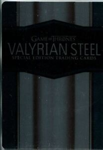 Game Of Thrones Season 6 Metal Casetopper Card CT1 Valyrian Steel Metal Promo