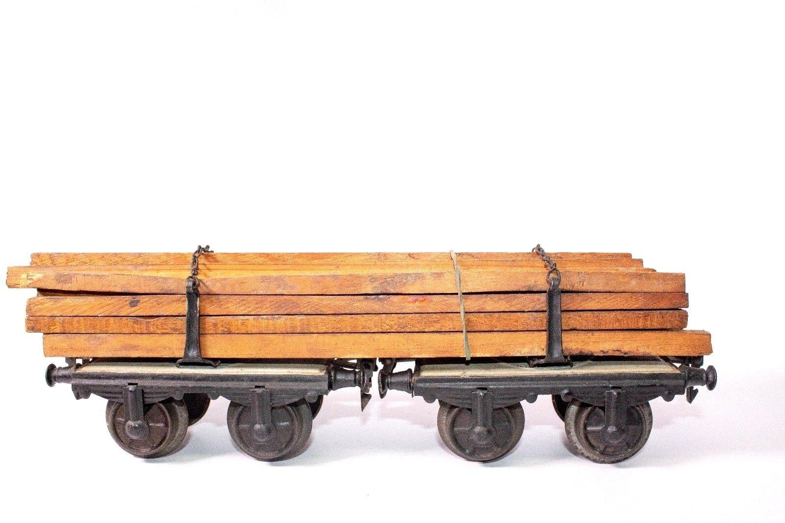 Vintage Preguerra 1-gauge Marklin  2 en 1  Log Transportador Cochega Coche