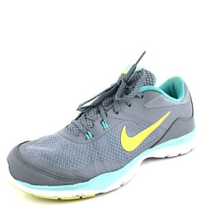 bf1c4f71ff0e Nike Flex Trainer 5 Womens Gray Athletic Training Running Shoes Size ...