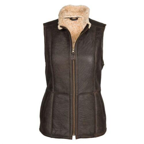 "Ladies /""Gilly/"" Gilet Leather Sheepskin Coat"
