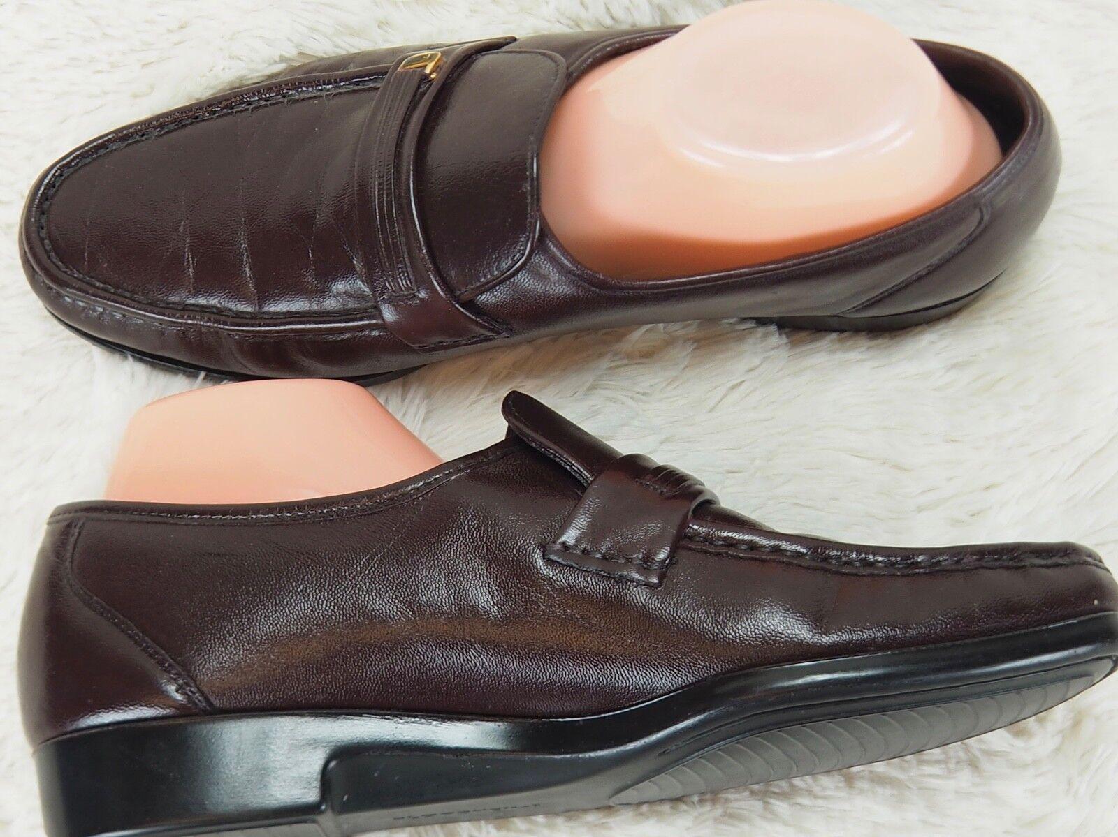 Florsheim Hebilla Mocasín de vestir Zapatos-Rojo sangre sangre sangre cuero-Hombre D/M ae7f19