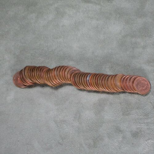 Circulated Canadian One Cent Roll 50 Pennies 1990-1999
