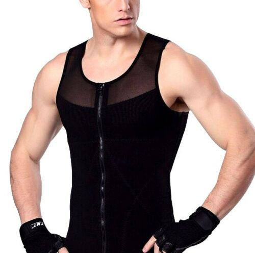 UK Mens Compression Male Corset for Man Boobs Gynecomastia Shirt Vest Underwear