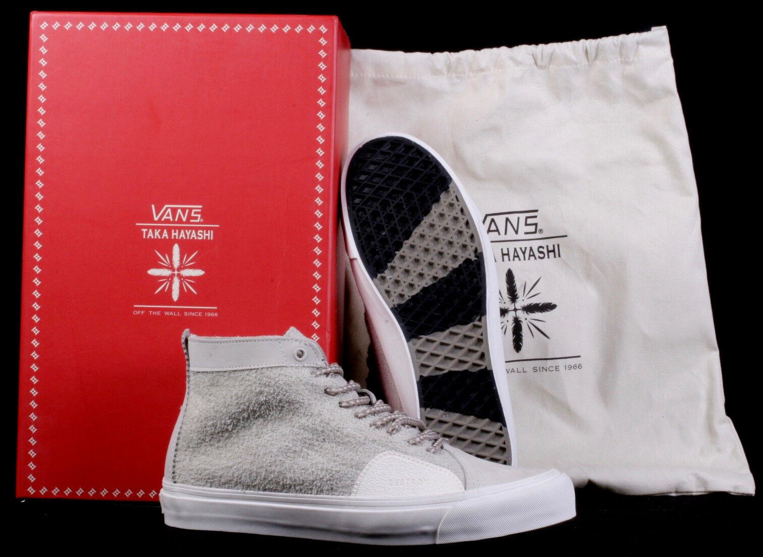 Vans Taka Hayashi TH SK8 Skool Nubuck Hairy Suede Grey Leather shoes - Size 11.5