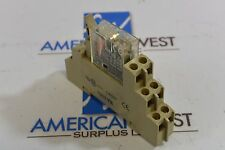 Used Omron G2R-2-SND  24VDC Relay with Base 0998YK  5A 250V