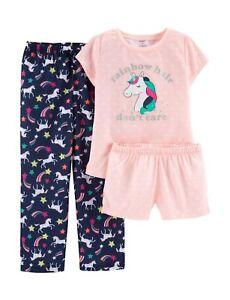 9fdb33c238c8 New Carter s 3-Piece Polka-Dot Unicorn Pajama Set - Girls 6 7 8 12 ...