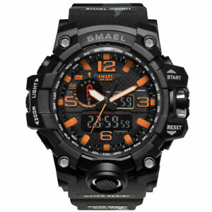 Military Camo Men's Wrist Watch Analog Multi Function Quartz Digital Calendar