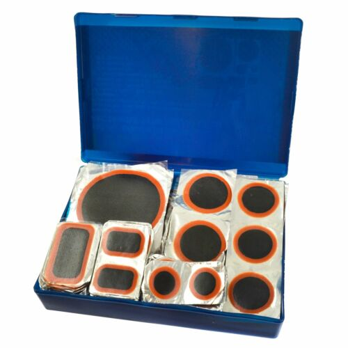 100pc Rubber Tyre Wheel Repair Patch Set Round and Rectangular TE009