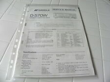 Sansui Factory Original Service Manual D-570W Stereo Cassette Deck