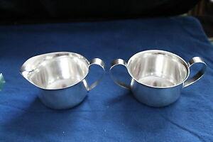 Arts-amp-Crafts-Porter-Blanchard-Sterling-Silver-Sugar-amp-Creamer