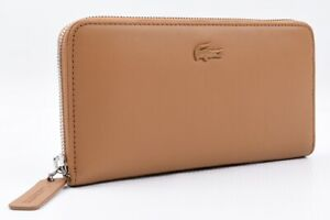 LACOSTE-Women-039-s-Purse-Wallet-Cow-Leather-Cashew-Colour-Gift-Boxed-RRP-147
