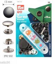 10 Nähfrei Druckknoepfe Spitze-MINI Messing 13 mm silber oder brüniert