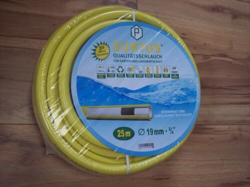 """25m Suntos Wasserschlauch 3//4/"""" Gartenschlauch gelb"""