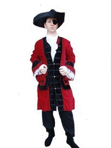 Cocher Femmeteau Femmeteau Femmeteau Rouge ingote gothique moyen age pirate Lord Femmedragor s-xxxl rouge/noir 4fe160