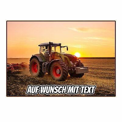 Traktor Grün Tortenaufleger Foto Torte Tortenbild Rechteck Zuckerbild Motiv