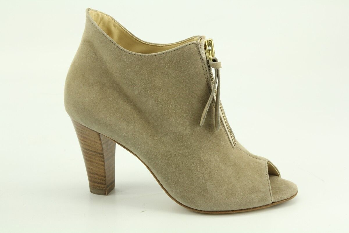 $380 NEW Paul Green Topaz Taupe Suede Open Toe Booties size 10 US 6233C