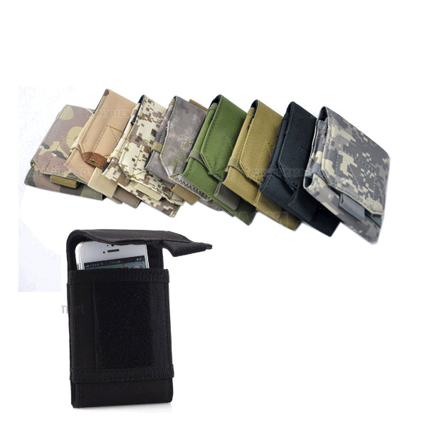 Molle Military Army Camo Case Bag For Mobile Phone Belt Loop Hook Holster