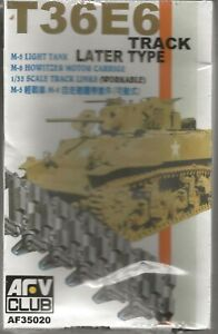 AFV Club T36E6 Track Links, Later Type (For M-5 Light Tank, M-8) in 1/35 020