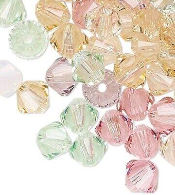 5328 48 Swarovski Crystal Clear 4mm Xilion Crystal Bicone Beads