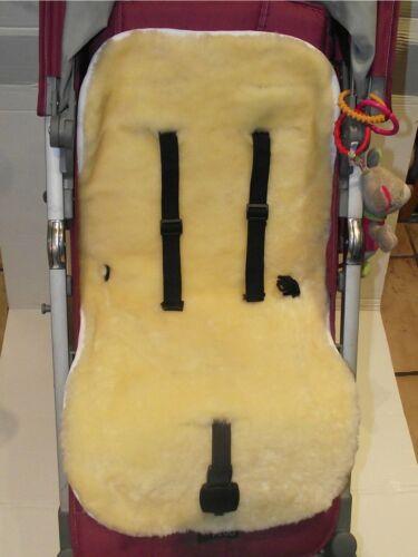 KIWA Kinderwagen Einlage für Kinderwagen Buggy Babybett Kinderbett aus Lammfell