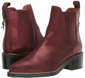 COACH Boots Burgundy Chelsea Bowery