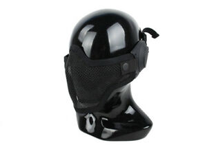 Airsoft-CS-Game-Camouflage-Mask-Tactical-Half-Face-Mesh-Mask-Ear-protection