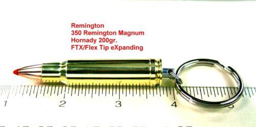 350 Mag Bullet Keychain 375 H/&H Mag 350 IHMSA /& 357 Herrett 376 Steyr 35 Rem
