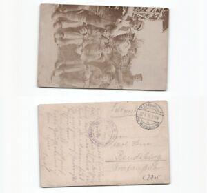 c2715-Fotoansichtskarte-Soldaten-im-Schuetzengraben-1916-nach-Rendsburg