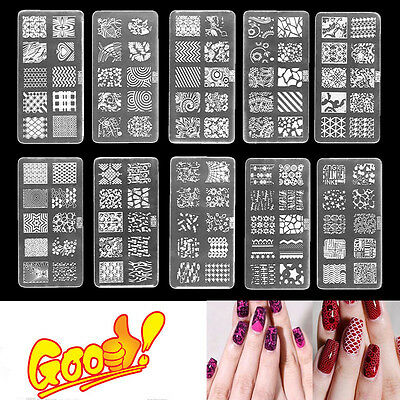 Leaf Nail Plate Nail Art Stamp Printing Plate Polish Template Manicure FE