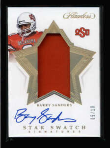 BARRY-SANDERS-2020-FLAWLESS-COLLEGIATE-STAR-SWATCH-GOLD-JERSEY-AUTO-10-FC4833