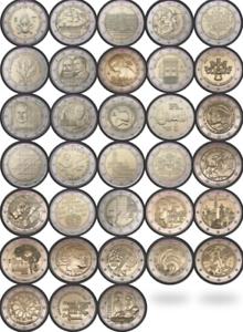 2 Euro Gedenkmünze commemorative coin 2020 2021 UNC - alle Länder all countries