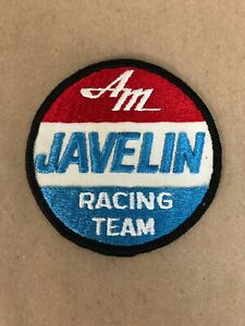 Vtg-AMC-Javelin-Racing-Team-Embroidered-Sew-On-Patch-Auto-Badge-American-Motors
