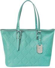 LONGCHAMP LM Cuir Large Tote Blue Lagoon Bag Leather Handbag Purse Logo NEW