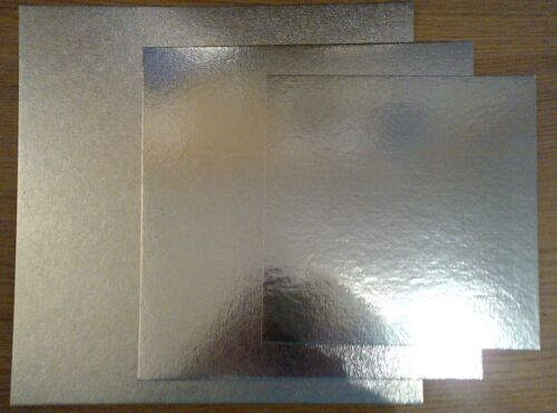 """10 x 10/"""" Square Silver Cake Bases"""