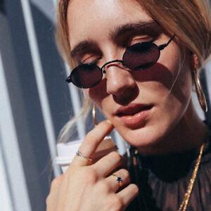 Vintage Small Oval Round Sunglasses Men Women Sun Glasses Eyewear B