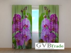 "Window Treatments & Hardware Home & Garden Fotogardinen ""orchidee Blume"" Fotovorhang Vorhang Gardinen 3d Qualität Fotodruck Modern Techniques"