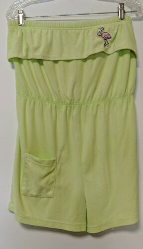 Vintage 1980s Yellow Terry Cloth Romper Palm Harbo